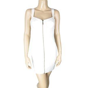 Ark & Co White Strappy Zipper Bodycon Dress